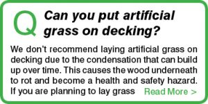 Can you put artificial grass on decking