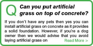 Can you put artificial grass on top of concrete