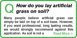 How do you lay artificial grass on soil