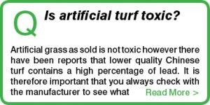 Is artificial turf toxic